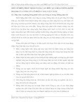 MỘT SỐ BIỆN PHÁP NHẰM NÂNG CAO HIỆU QUẢ HOẠT ĐỘNG KINH DOANH CỦA CÔNG TY CỔ PHẦN CẢNG VẬT CÁCH
