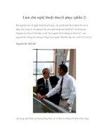 Làm chủ nghệ thuật thuyết phục (phần 2)