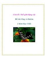 Chủ đề: Thế giới động vật - Đề tài: Ong và Bướm - Nhóm lớp: Chồi