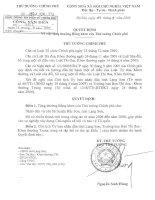 Quyết định số 1501/QĐ-TTg
