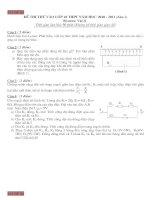 2 đề thi vật lý chuyên lớp 10+ đáp án