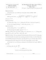 Đề thi+đa học sinh giỏi toán vòng 1  Tam Dương VP
