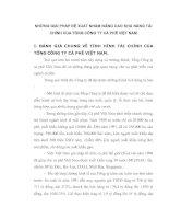 NHỮNG GIẢI PHÁP ĐỀ XUẤT NHẰM NÂNG CAO KHẢ NĂNG TÀI CHÍNH CỦA TỔNG CÔNG TY CÀ PHÊ VIỆT NAM