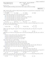 Đề kiểm tra 45ph_Kì 1(100% trắc nghiệm, trộn đề)
