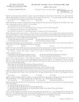 ĐỀ THI THỬ ĐH LẦN II NĂM 2008-2009 TRƯỜNG THPT CHUYÊN THÁI BÌNH MÔN VẬT LÝ - MÃ ĐỀ THI 123
