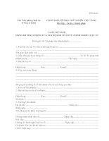 Mẫu TP-LS-05: Giấy đề nghị đăng ký hoạt động của chi nhánh tổ chức hành nghề luật sư