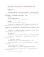 Nội dung chính của các văn bản quy định về kế toán ngân hàng