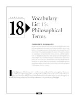 Vocabulary list 15 - Philosophical terms