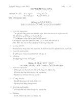 Sinh hoat nhom song song - Tuan 13-14