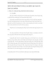 MỘT SỐ GIẢI PHÁP NÂNG CAO HIỆU QUẢ QUẢN TRỊ TÀI CHÍNH