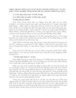 THỰC TRẠNG ĐÀO TẠO VÀ SỬ DỤNG NGUỒN NHÂN LỰC  Ở CÁC KHU CÔNG NGHIỆP TỈNH NINH THUẬN TRONG THỜI GIAN QUA