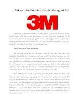 3M và bản lĩnh kinh doanh của người Mỹ