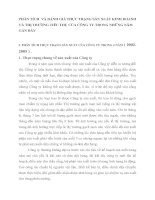 PHÂN TÍCH  VÀ ĐÁNH GIÁ THỰC TRẠNG SẢN XUẤT KINH DOANH VÀ THỊ TRƯỜNG TIÊU THỤ CỦA CÔNG TY TRONG NHỮNG NĂM GẦN ĐÂY