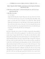 THỰC TRẠNG PHÁT TRIỂN  SẢN XUẤT CÂY ĂN QUẢ Ở NGOẠI THÀNH HÀ NỘI