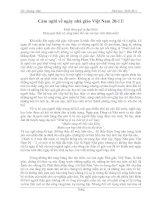 Bài cảm tưởng về ngày nhà giáo Việt Nam 20-11