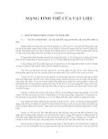 Chương 2: MẠNG TINH THỂ CỦA VẬT LIỆU
