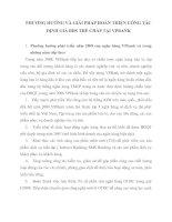 PHƯƠNG HƯỚNG VÀ GIẢI PHÁP HOÀN THIỆN CÔNG TÁC ĐỊNH GIÁ BĐS THẾ CHẤP TẠI VPBANK