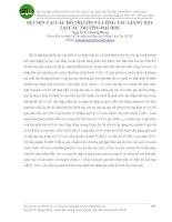 BỤI MỊN TẠI CÁC ĐÔ THỊ LỚN VÀ CÔNG TÁC GIẢNG DẠY TẠI CÁC TRƯỜNG ĐẠI HỌC