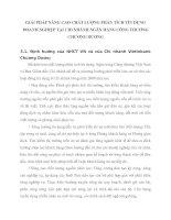 GIẢI PHÁP NÂNG CAO CHẤT LƯỢNG PHÂN TÍCH TÍN DỤNG DOANH NGHIỆP TẠI CHI NHÁNH NGÂN HÀNG CÔNG THƯƠNG CHƯƠNG DƯƠNG
