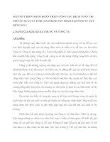 MỘT SỐ Ý KIẾN NHẰM HOÀN THIỆN CÔNG TÁC HẠCH TOÁN CHI PHÍ SẢN XUẤT VÀ TÍNH GIÁ THÀNH SẢN PHẨM TẠICÔNG TY XÂY DỰNG SỐ 1