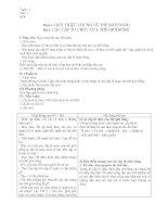 Giáo án sinh 10CB từ tiết 1-11 theo chuẩn kiến thức kĩ năng