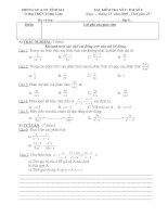 kiểm tra đại số lớp 8 chương II tiết 36