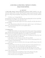 Chương 8: Phương trình vi phân đạo hàm riêng