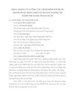 THỰC TRẠNG CỦA CÔNG TÁC THẨM ĐỊNH TÍN DỤNG TRONG HOẠT ĐỘNG CHO VAY DOANH NGHIỆP TẠI MARITIME BANK THANH XUÂN