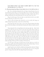 GIẢI PHÁP NÂNG CAO CHẤT LƯỢNG DỊCH VỤ VẬN TẢI HÀNH KHÁCH CỦA CÔNG TY