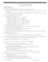 Hệ thống kiến thức ôn tập toán 8 kì 1