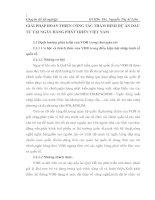 GIẢI PHÁP HOÀN THIỆN CÔNG TÁC THẨM ĐỊNH DỰ ÁN ĐẦU TƯ TẠI NGÂN HÀNG PHÁT TRIỂN VIỆT NAM