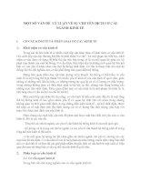 MỘT SỐ VẤN ĐỀ  LÝ LUẬN VỀ SỰ CHUYỂN DỊCH CƠ CẤU NGÀNH KINH TẾ