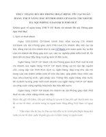 THỰC TRẠNG RỦI RO TRONG HOẠT ĐỘNG TÍN TẠI NGÂN HÀNG TMCP XĂNG DẦU PETROLIMEX GP BANK CHI NHÁNH HÀ NỘI PHÒNG GIAO DỊCH PHỐ HUẾ