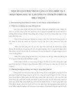 MỘT SỐ GIẢI PHÁP NHẰM TĂNG CƯỜNG HIỆU QUẢ HOẠT ĐỘNG ĐẦU TƯ TẠI CÔNG TY CỔ PHẦN THIẾT BỊ THỰC PHẨM