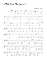 Bài hát một lần thoáng có - Trịnh Công Sơn (lời bài hát có nốt)