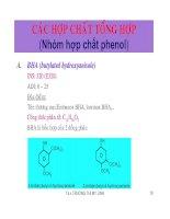 Các hợp chất tổng hợp (nhóm hợp chất phenol)