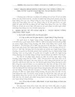 THỰC TRẠNG HOẠT ĐỘNG CHO VAY CÁC TỔNG CÔNG TY NHÀ NƯỚC TẠI SỞ GIAO DỊCH I  NGÂN HÀNG CÔNG THƯƠNG