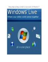 Đăng nhập tự động các dịch vụ trực tuyến với Windows 7