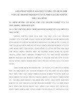 GIẢI PHÁP NÂNG CAO CHẤT LƯỢNG TÍN DỤNG ĐỐI VỚI CÁC DOANH NGHIỆP VỪA VÀ NHỎ TẠI CHI NHÁNH NHCT BA ĐÌNH