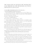 THỰC  TRẠNG  CÔNG  TÁC  HẠCH TOÁN  TIÊU  THỤ HÀNG  HOÁ VÀ XÁC  ĐỊNH  KẾT  QUẢ  TIÊU  THỤ HÀNG HOÁ  TẠI  CÔNG TY THƯƠNG MẠI XÂY  DỰNG- HÀ NỘI