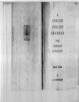 A concise english grammar for foreign students - Ngữ pháp tóm tắt cho sinh viên nước ngoài