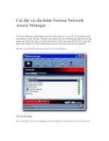Cài đặt và cấu hình Verizon Network Access Manager