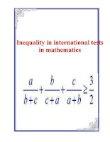 Inequality in international tests in mathematics