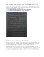 Đọc bức thư đoạt giải nhất quốc tế cuộc thi viết thư UPU