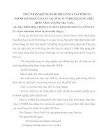 THỰC TRẠNG KẾ TOÁN CHI PHÍ SẢN XUẤT VÀ TÍNH GIÁ THÀNH SẢN PHẨM XÂY LẮP TẠI CÔNG TY TNHH XÂY DỰNG PHÁT TRIỂN NĂNG LƯỢNG VIỆT NAM
