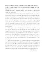 ĐÁNH GIÁ THỰC TRẠNG VÀ HIỆU QUẢ SỬ DỤNG THẺ THANH TOÁN TẠI NGÂN HÀNG THƯƠNG MẠI CỔ PHẦN Á CHÂU TỪ NĂM 2005