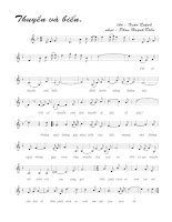 Bài hát thuyền và biển - Phan Huỳnh Điểu (lời bài hát có nốt)