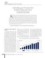 Xuất khẩu gạo VN 2012 định hướng 2013