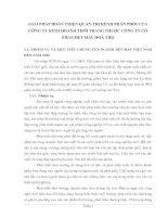 GIẢI PHÁP HOÀN THIỆN QUẢN TRỊ KÊNH PHÂN PHỐI CỦA CÔNG TY KINH DOANH THỜI TRANG THUỘC CÔNG TY CỔ PHẦN DỆT MAY HOÀ THỌ