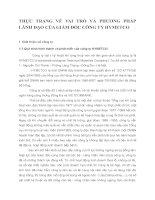 THỰC TRẠNG VỀ VAI TRÒ VÀ PHƯƠNG PHÁP LÃNH ĐẠO CỦA GIÁM ĐỐC CÔNG TY HYMETCO